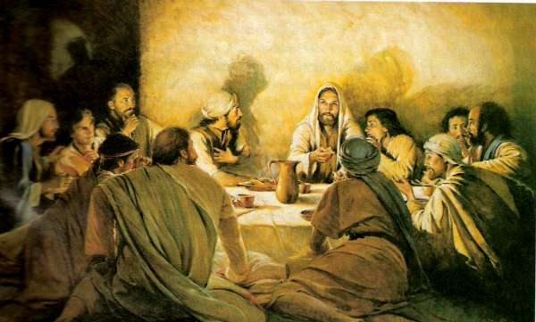 Jesus and His Disciples Last Supper
