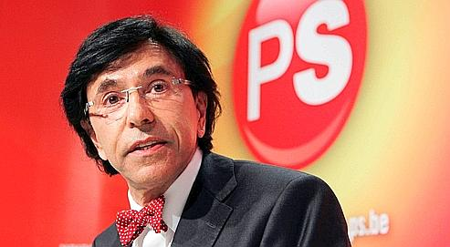 PS party President Di Rupo addresses a news conference in Brussels