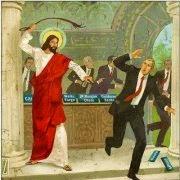 Jesús indignado