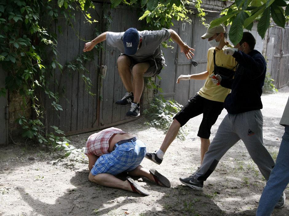 Unidentified people beat Svyatoslav Sheremet, head of Gay-Forum of Ukraine public organization, in Kiev