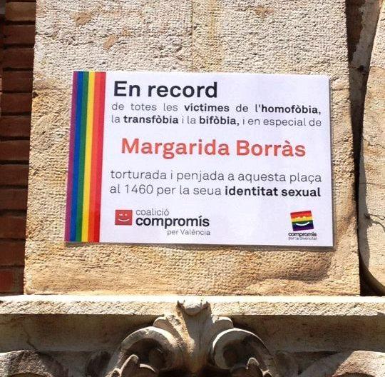 Margarida Borràs Compromís Colició País Valencià 1460 LGTB homofobia transfobia bifobia