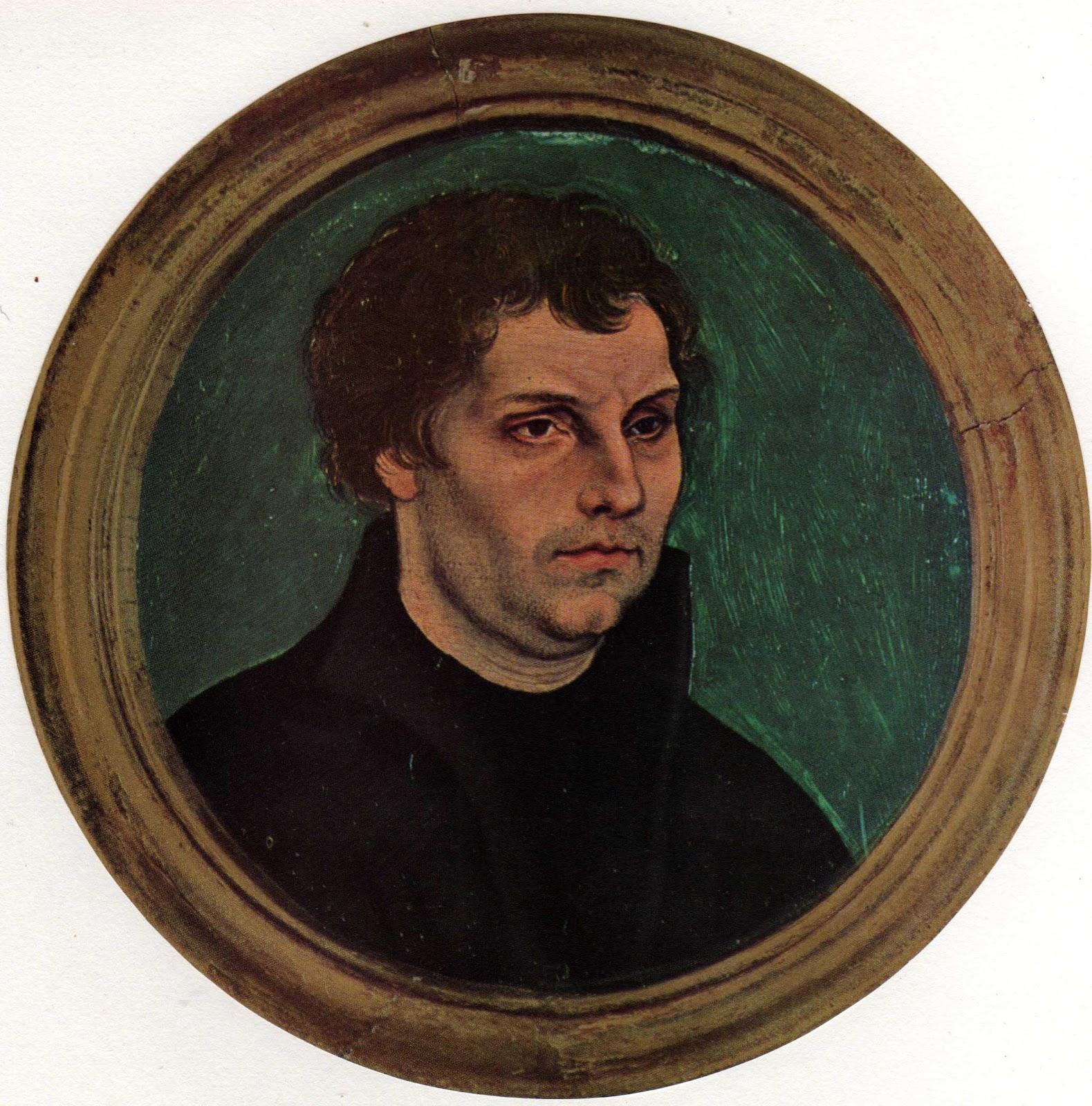 3.Lucas Granach. Retrato de Martin Lutero.10cm