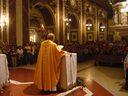 Homilia de Monsenor Antonio Aloisio  en la Misa por San Expedito de las 21 hs - 19-04-08