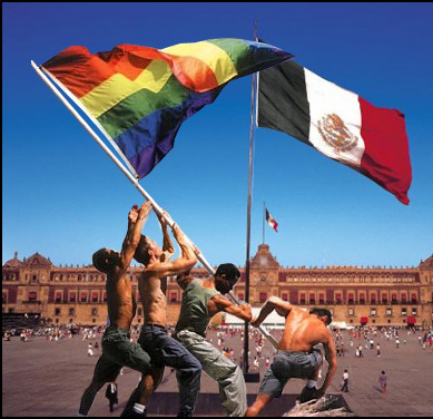 Pr‰sidentenpalast am Zocalo mit mexikanischer Flagge, Mexico City, Mexiko