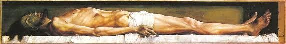 Cristo muerto de Holbein