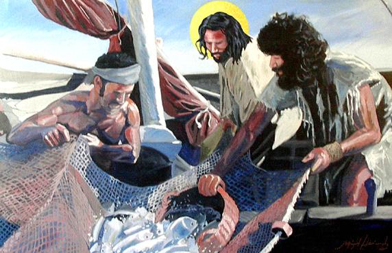 jesus e a pesca milagrosa