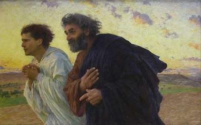 Pedro Y Juan ante la resurrección