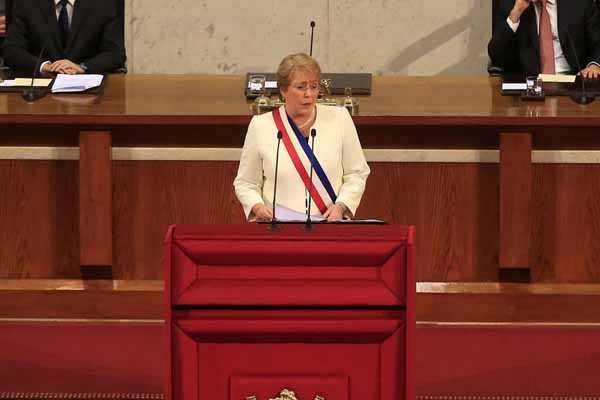 Cuenta pública 2015 de Michelle Bachelet.