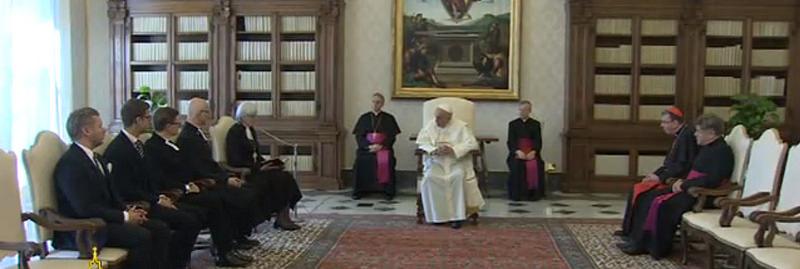 el-papa-y-la-delegacion-luterana-de-suecia