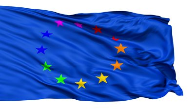 stock-footage-realistic-d-detailed-slow-motion-europe-gay-flag-in-the-wind-seamless-looping-isolated-on-white