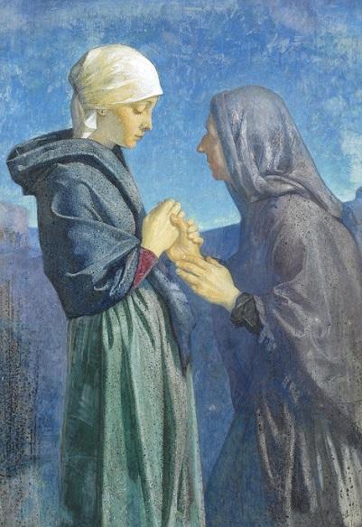 Dorothy Webster Hawksley, (1884-1970) Visitación de María a su prima Isabel