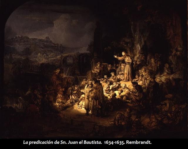 La predicación de Sn. Juan el Bautista. 1634-1635. Rembrandt.