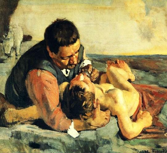Ferdinand Hodler El buen samaritano, 1885
