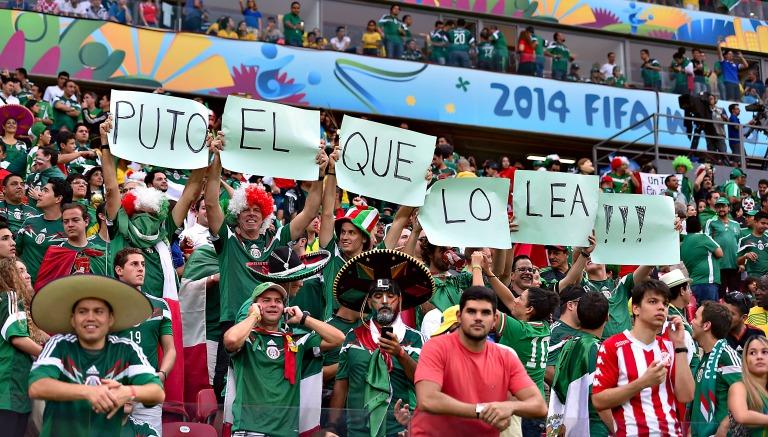 Recife, Brasil, 23 de junio de 2014. Aficionados aooyan previo al partido entre la Selección Nacional de México (Selección Mexicana de Futbol) y la Selección de Croacia, correspondiente a la Jornada 3 de la Primera Fase de la Copa Mundial de la FIFA Brasil 2014, celebrado en el Estadio Arena Pernambuco. Foto: Imago7/Etzel Espinosa
