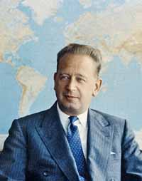 Portrait of Mr. Dag Hammarskjöld, Secretary-General of the United Nations.
