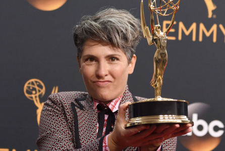 Mandatory Credit: Photo by Stephen Lovekin/REX/Shutterstock (5899059i) Jill Soloway 68th Primetime Emmy Awards, Press Room, Los Angeles, USA - 18 Sep 2016