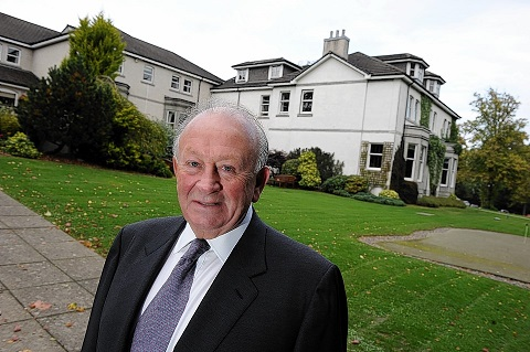 The Marcliffe Hotel and Spa owner Stewart Spence is announcing his retirement. Picture by KENNY ELRICK 02/10/2013 .