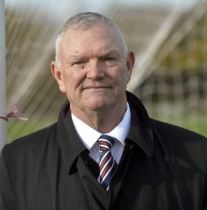 Chairman of The Football Association Greg Clarke visits The Sheepmount in Carlisle to see football being played on the pitches that were flooded during the floods and storms of December 2015: 2 November 2016 STUART WALKER 50086125F005.JPG