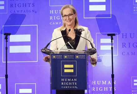 NEW YORK, NY - FEBRUARY 11: Actress Meryl Streep attends the 2017 Human Rights Campaign Greater New York Gala at The Waldorf Astoria on February 11, 2017 in New York City. (Photo by Jim Spellman/WireImage)