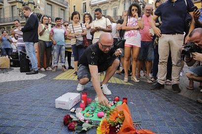 Olmo Calvo. 18/08/2017 Barcelona. Catalunya Atentado terrorista. La Rambla por la manana.