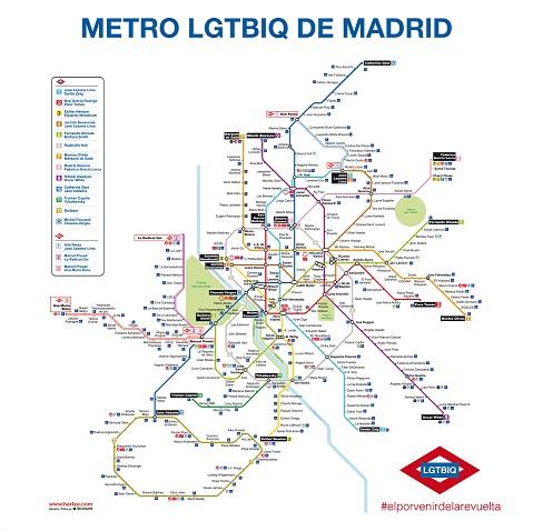 Metro Madrid Versión LGBT Marzo 2017 412x420