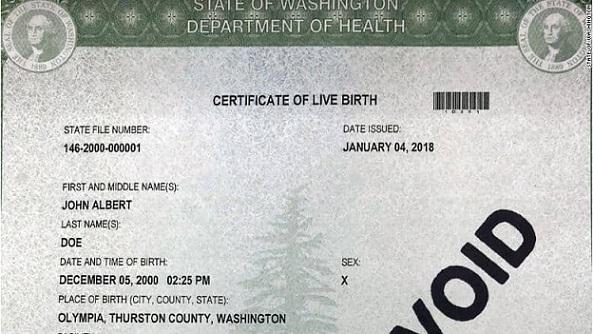 certificado-nacimiento-estado-washington-tercer-genero