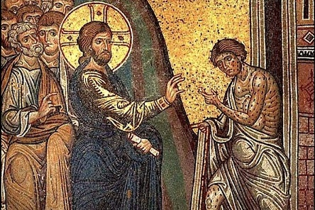 Cathedral-of-Monreale-mosaic-leper-wikipedia-Pd-1-740x493