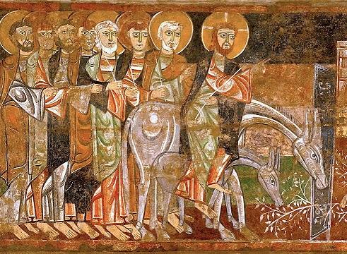 Entrada-de-Cristo-en-Jerusalén-fresco-de-San-Baudelio-de-Berlanga-Wiki-commons