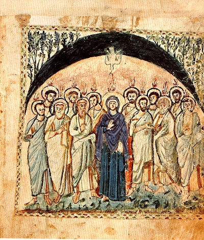 16.4.1.El-Descenso-del-Espiritu-Santo_Evangelio-de-Rabula_siglo VI