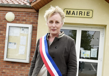Marie Cau, first transgender woman elected as mayor in France poses on May 24, 2020 in her garden of Tilloy-lez-Marchiennes, one day after being elected by the city council. (Photo by FRANCOIS LO PRESTI / AFP) (Photo by FRANCOIS LO PRESTI/AFP via Getty Images)