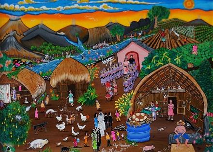 10-Pintura-primitivista-de-Olga-Maradiaga