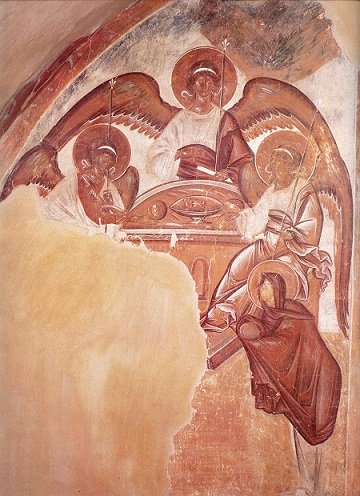 03.06.Santa-Trinidad_Teofanes-el-Griego_Fresco-Iglesia-de-la-Transfiguracion-en-la-calle-Ilyin_Novgoro
