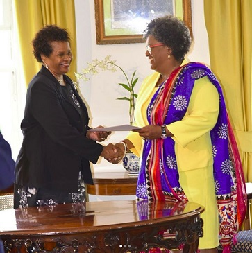 Mia-Mottley-Sworn-in