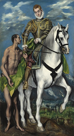 El Greco (Domenikos Theotokopoulos) (Greek, 1541 - 1614 ), Saint Martin and the Beggar, 1597/1599, oil on canvas with wooden strip added at bottom, Widener Collection